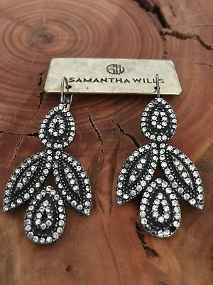 Samantha Wills Earrings - Silver & Crystals