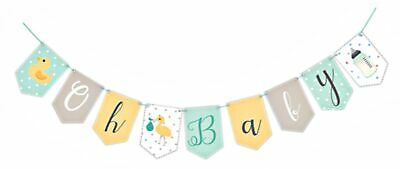 Baby Shower Decorations Bunting Banner Hanging Party Supplies Unisex Boy Girl