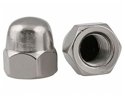M3 x 0.5mm Pitch Dome Nuts Acorn Hex Cap Nuts 304 A2-70 Stainless Steel DIN1587