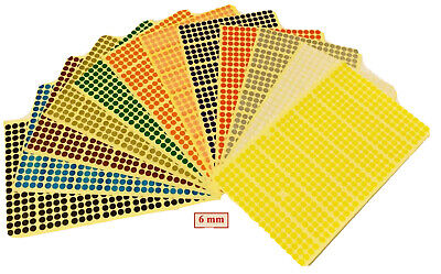Any Sizes & Coloured Dots Stickers Adhesive Spot Circle Paper Labels 6 9 8 10 16