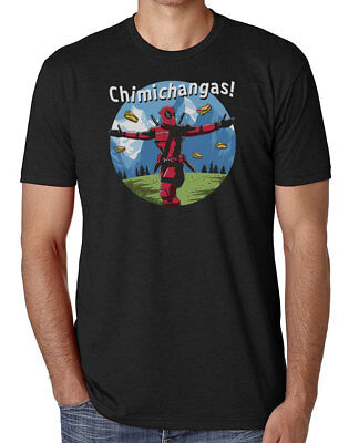 Deadpool The Sound Of Chimichangas Men's Comedy T-Shirt Unisex Black Tee Shirt