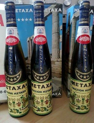Metaxa Brandy Grand Prix 3 Flaschen 0,7 Liter