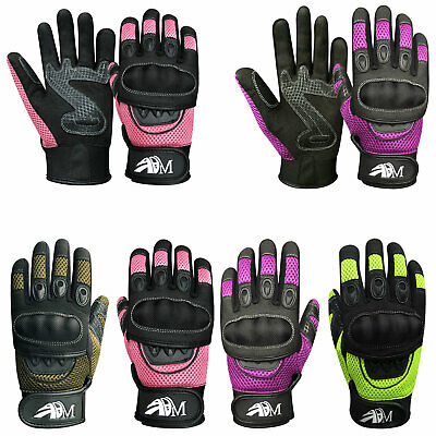 Ladies Full Finger Motorbike Mountain Bike Knuckle Protection Racing Gloves 9001