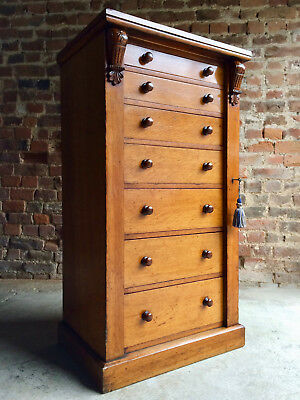 Antique Wellington Campaign Chest of Drawers Oak William IV 19th Century
