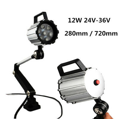 12W 24V-36V Work Light Waterproof CNC Mill Lathe Tool Working Lamp Turning Arm