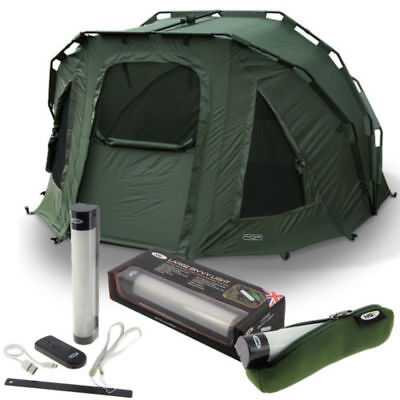2 Man Fortress Bivvy With Large Ngt Bivvy Light And Case Bag Ngt Carp Fishing