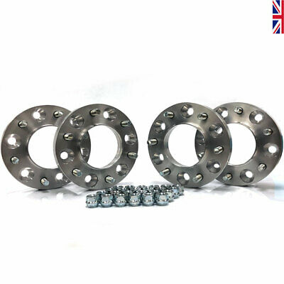 FORD RANGER 25mm Hub Centric Bolt On Spacers 2 x PAIR 6x139.7 inc Nuts