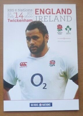 England v Ireland, 22/02/2014 - Six Nations Match Programme.