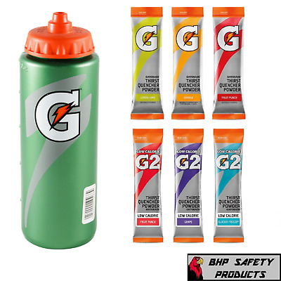 Gatorade 20 Oz Water Bottle With Gatorade Powder Sticks - Choose Your Flavor