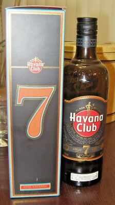 Havana Club Anejo 7 Anos 70cl 750ml Empty Bottle with Box
