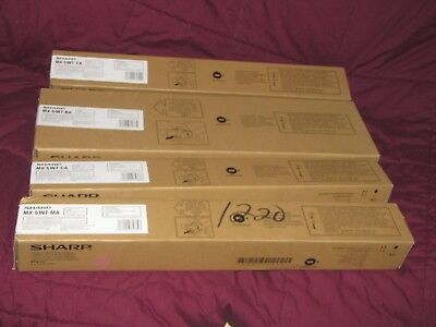 Genuine Sharp MX-51NT CMYK Toner Set for MX-4110N 4140N 5110N 5140N