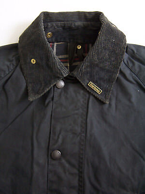 Barbour A105 Bedale Wax Jacket C38 97cm Small Blue Waxed Vintage BBt141 #