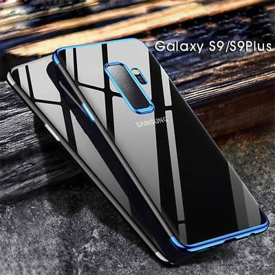 For Samsung S9 S8 Plus Note 8 Shockproof Luxury Plating Slim Soft TPU Case Cover