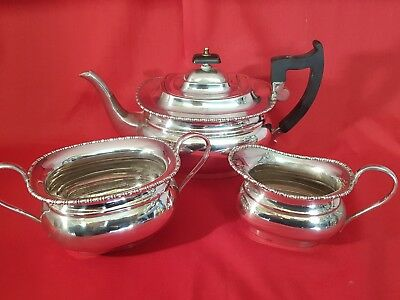 an antique silver plated 3 piece tea set.made in sheffield.