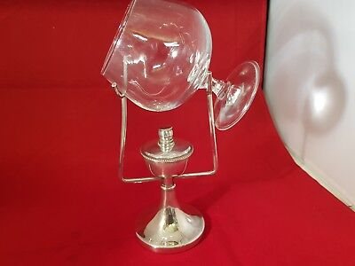 a very elegant antique silver plated brandy warmer.made in england.