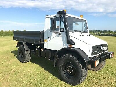 1997 Mercedes Unimog U140L Truck Tractor With Hydraulic Tipper Tipping Bed