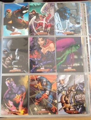 Marvel Masterpieces 2008 - Complete Base Set + Limited Edition Subsets - Fleer