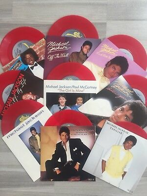 Michael Jackson UK 9 Singles Pack LIMITED EDITION Red Colored Vinyl 1983