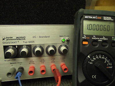 BURSTER   DC-Standard Digistant Type 6404. Hochgenaue Präzisions-Voltage Tested
