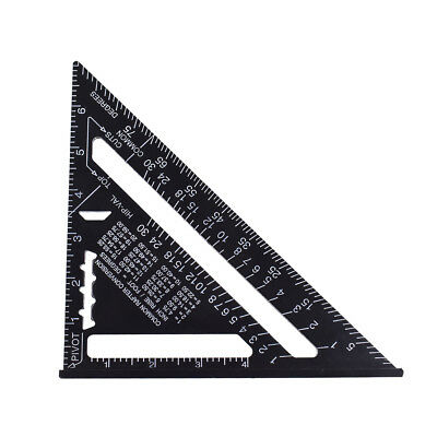 """Alloy Aluminum Measuring Square Speed 7"""" Triangle Ruler Protractor Miter Framing"""