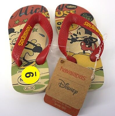 Kids' Clothing, Shoes & Accs Clothing, Shoes & Accessories Havaianas Infant Boys Mickey Mouse Size 23-24