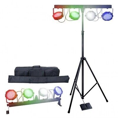 Kampro Partybar V2 LED Parbar kit with Bag, Stand and Foot controller DMX Stage