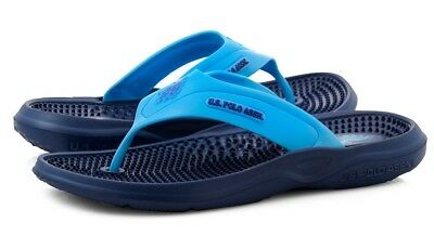 US Polo Assn. Men's Sandals Textured Sport Thong Sandals Beach Pool Flip-Flops