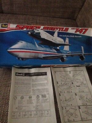 Revell Space Shuttle And 747 Kit Includes Both Aircraft Neu