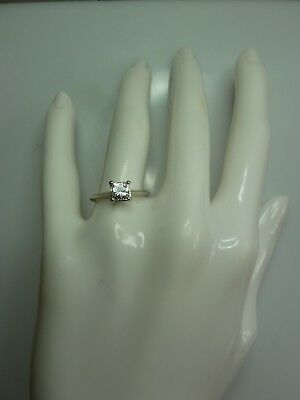 Charles And Colvard Moissanite White Gold 5Mm Princess Cut Ring