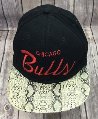 db579dc8a89 JUST DON Chicago Bulls Hat RSVP Gallery Python Snake Skin Mitchell Ness
