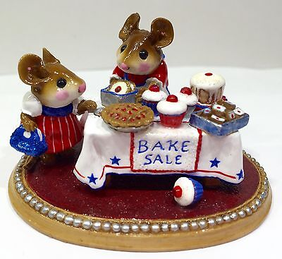 Wee Forest Folk Mousey's Bake Sale -Limited- Red White Blue Retired