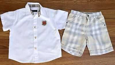 Burberry Toddler Boys Shirt & Shorts Outfit Sz 3 Years