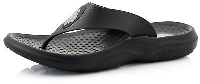U.S. Polo Assn. Men's Thong Flip Flop Black Thong Sandal For Beach Pool Gym NWT