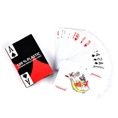 1pc red baccarat texas holdem plastic playing poker cards bridge game