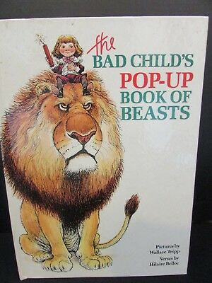 The Bad Child's POP UP BOOK Of Beasts Wallace Tripp Wonderful Illustrations