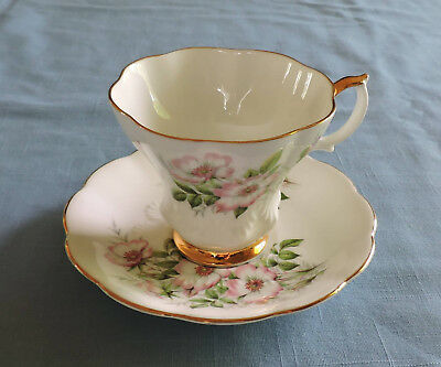 Royal Albert Friendship Series Wild Rose Bone China Cup and Saucer - C3176