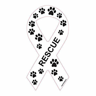 Rescue Ribbon Dog Car Magnet