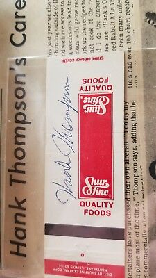 1979 Signed Matchbook From Hank Thompson With Coa And Article.