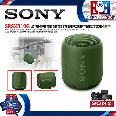 Sony SRSXB10G Portable Wireless Speaker with Bluetooth - Green