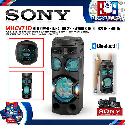 e4538f75334b2f Sony MHCV71D Vertical Hi-Fi Home Audio System with Bluetooth & 360 Lighting