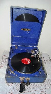 Antique Collectable Mastertone Portable Wind Up Gramophone England ...