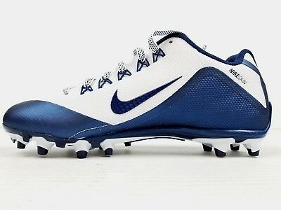 new styles f9542 d5007 NIKE Alpha Pro 2 TD Men s Size 12 White Navy Low Football Cleats 719930-