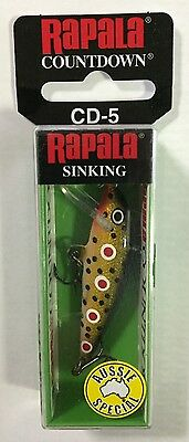 Rapala CD-5 Spotted Dog Lure ***FREE REGISTERED POSTAGE*** Aussie Special!!!