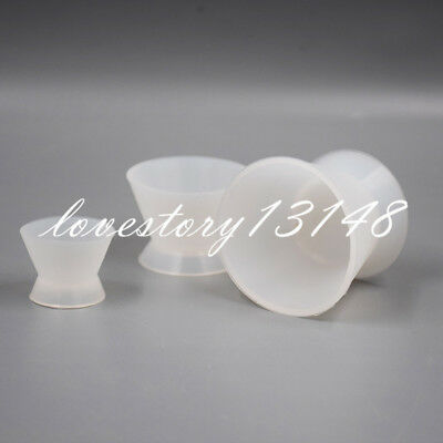 3 Pcs Dental Flexible Lab Silicone Mixing Cup Acrylic NonStick Bowl Dappen Dish