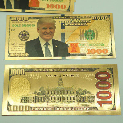 US President Donald Trump $1000 Dollar Commemorative Banknote Non-currency Note