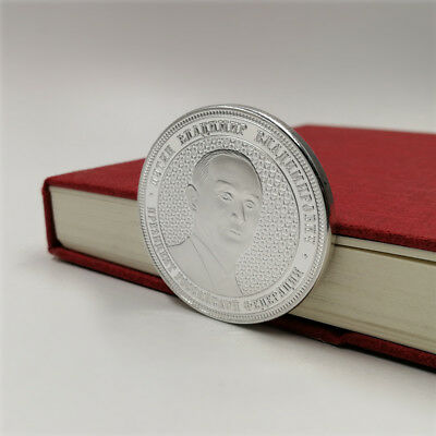 Silver Russian President Vladimir Putin Commemorative Coin Collection with Case