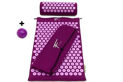 Kit d'acupression acupuncture massage relaxation sport 68x42x2,5cm Viol/fush