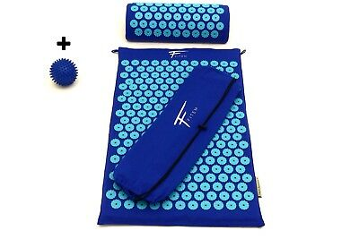 Kit d'acupression  acupuncture  massage relaxation sport 68x42x2,5cm  Bleu/tur
