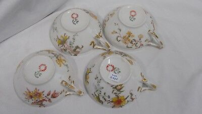 Antique JEAN POUYAT LIMOGES China Unknown (four) Teacups (Ca.1880-1914)   # 2266