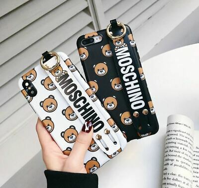 MOSCHINO Black Bag Shaped Soft Silicone Gel Phone Case For iPhone X 6 7 8 Plus